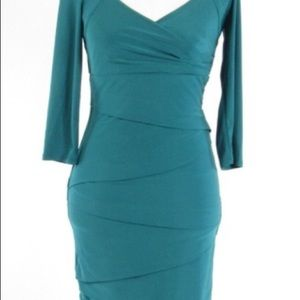 White House/Black Market teal dress, size 00.